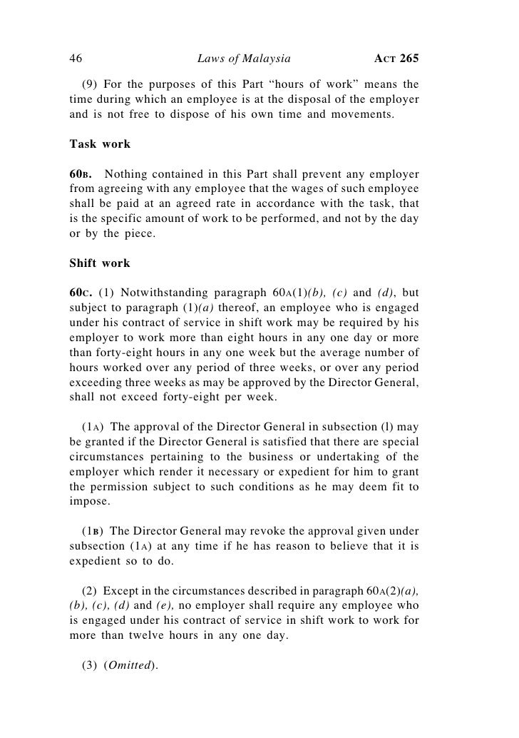 ... Contract Employment Letter Malaysia Employment Act 1955 Malaysia ...