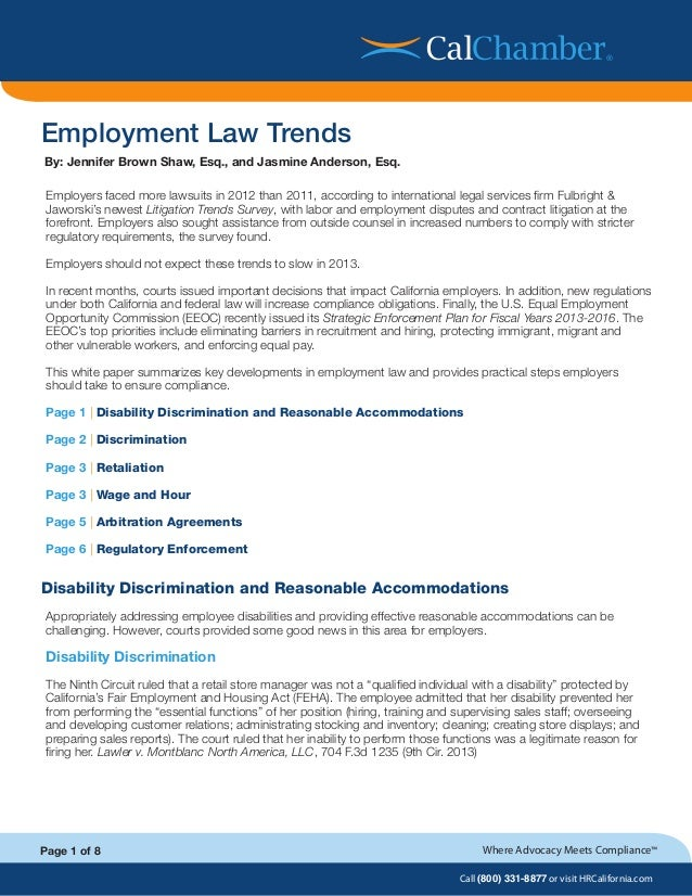 Employment law-trends