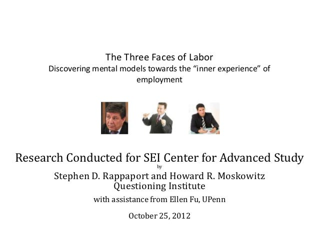 """The Three Faces of Labor      Discovering mental models towards the """"inner experience"""" of                            emplo..."""