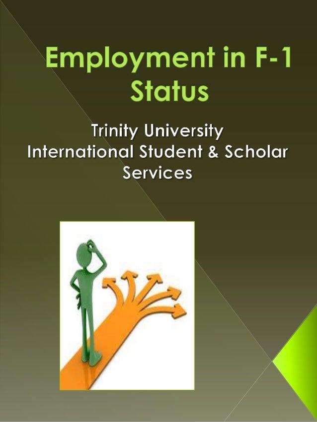 On campus employment Off campus employment