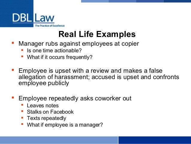 Supervisor dating employee law