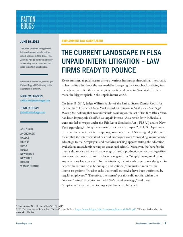 PattonBoggs.com Employment Law Client Alert 1JUNE 19, 2013This Alert provides only generalinformation and should not berel...