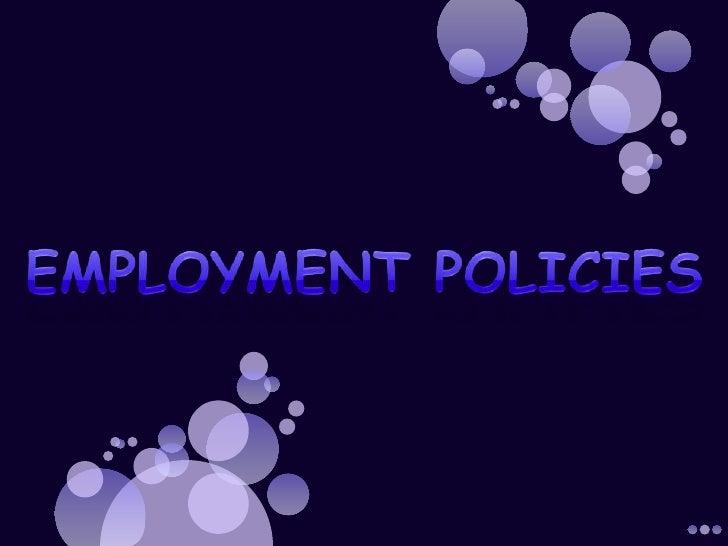 Employmentpolicies<br />