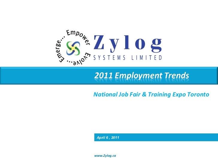 National Job Fair & Training Expo Toronto April 6 , 2011