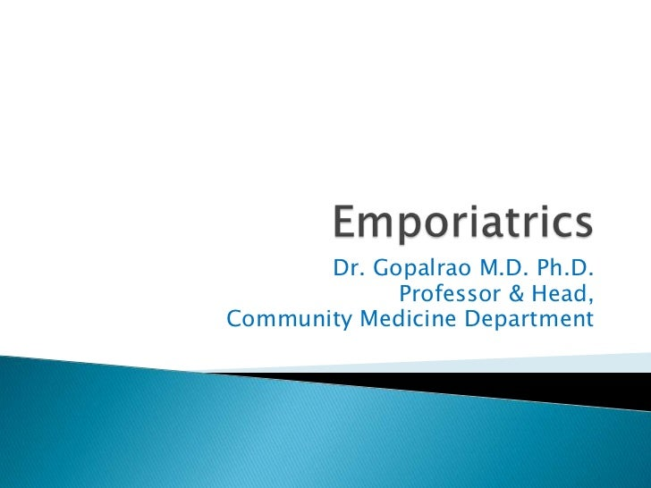 Emporiatrics