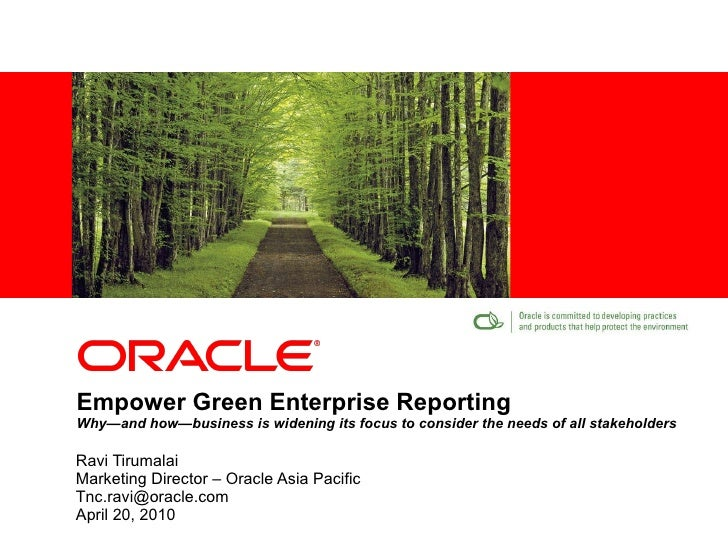 Empower Green Enterprise Reporting Why—and how—business is widening its focus to consider the needs of all stakeholders Ra...