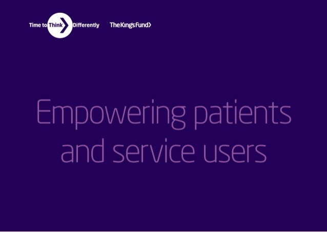 Empowering patients and service users infographics