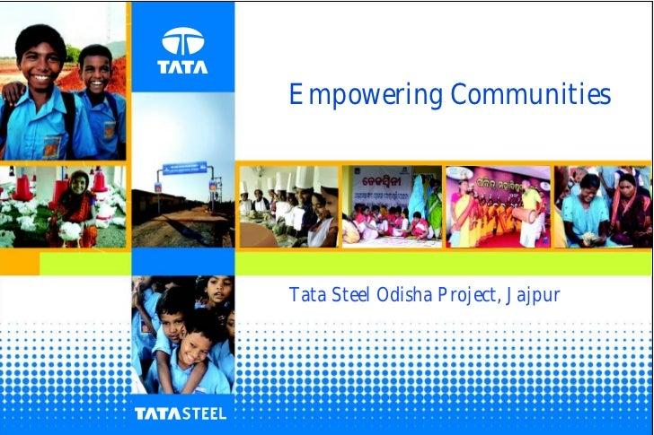 Empowering communities tata steel odisha project, jajpur
