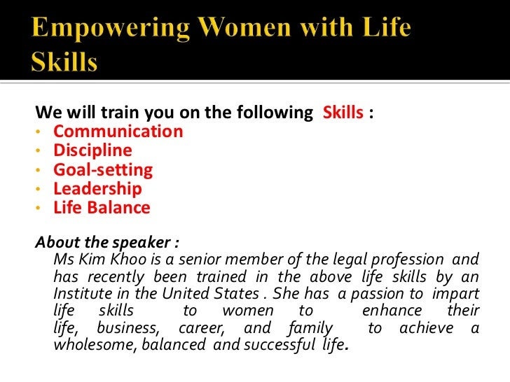14 July - Empowering Women With Life Skills