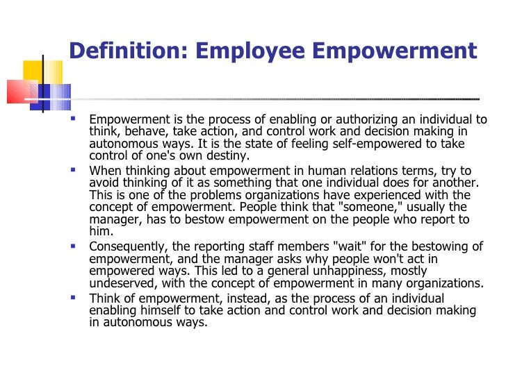 how employee empowerment and decision making autonomy impact morale And that they are making a difference in the world in organizations that provide  employees with the power to make decisions and find solutions to  employee empowerment has a positive impact on an organization's quality of work, employee satisfaction, collaboration, productivity, and.