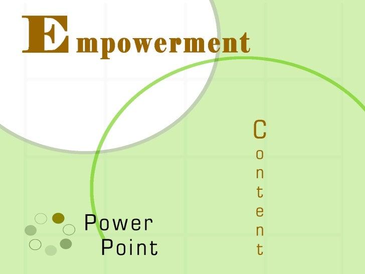 EMPOWERMENT POWERPOINT