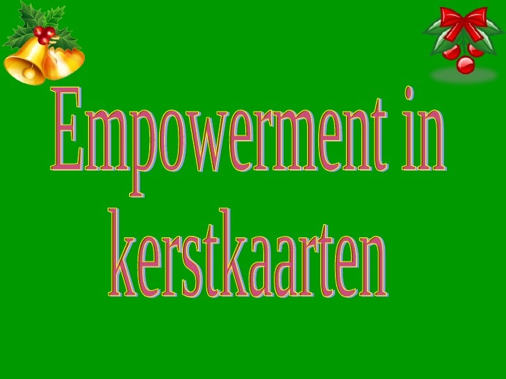 Empowerment In Kerstkaarten