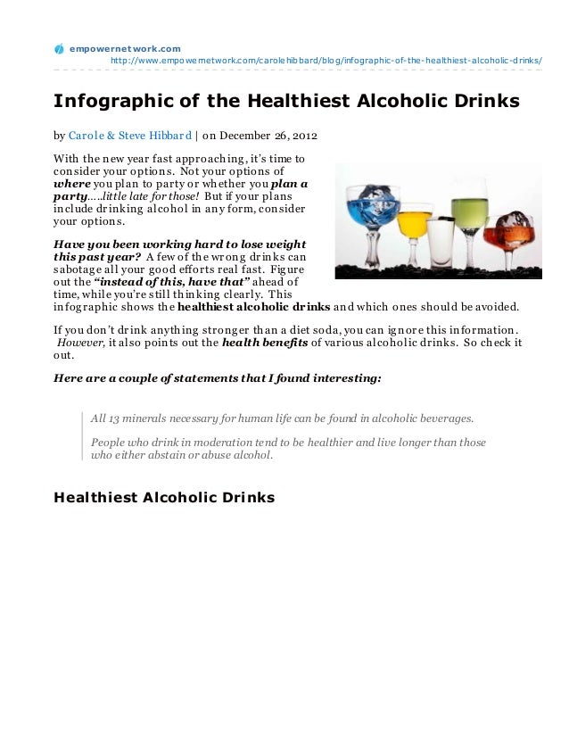 Infographic of the Healthiest Alcoholic Drinks