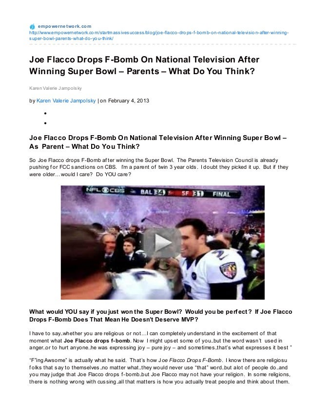Empowernetwork.com joe-flacco-drops-f-bomb-on-national-television-after-winning-super-bowl--parents--what-do-you-think