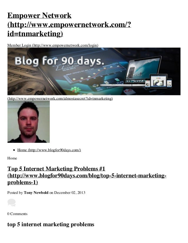 Top 5 Internet Marketing Problems #1