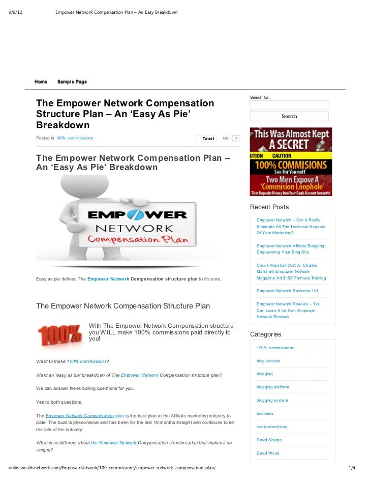 9/6/12              Empower Network Compensation Plan – An Easy Breakdown           Home      Sample Page                 ...