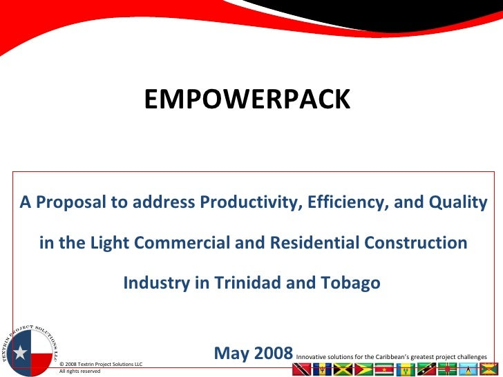 EMPOWERPACK A Proposal to address Productivity, Efficiency, and Quality in the Light Commercial and Residential Constructi...