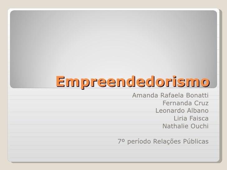 Empreendedorismo   ligue gratis