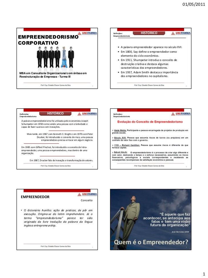 01/05/2011                                                                          Definições            HISTÓRICOEMPREEN...