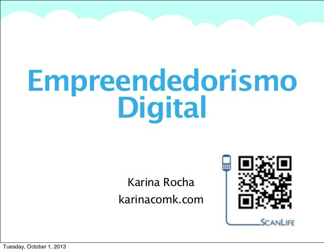 A summary of this goal will be stated here that is clarifying and inspiring Empreendedorismo Digital Karina Rocha karinaco...