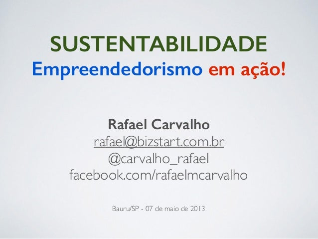 Sustentabilidade, Empreendedorismo em Ação