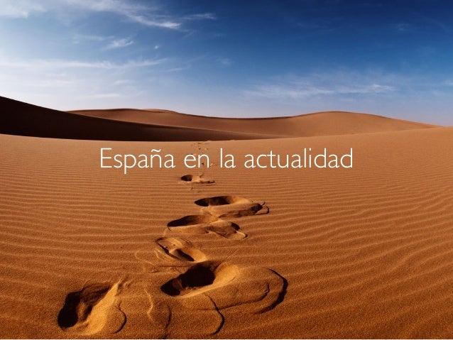 España en la actualidad
