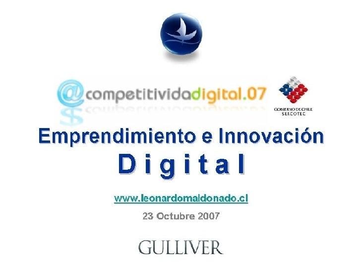 Emprendimiento E Innovación Digital