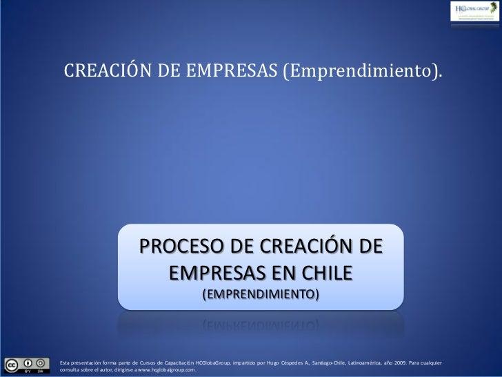 Emprendimiento, Creación de Nuevas Empresas en Chile
