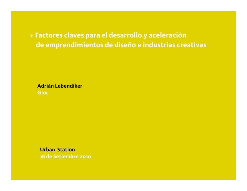 Ciclo de Charlas Urban - Emprendimientos Creativos
