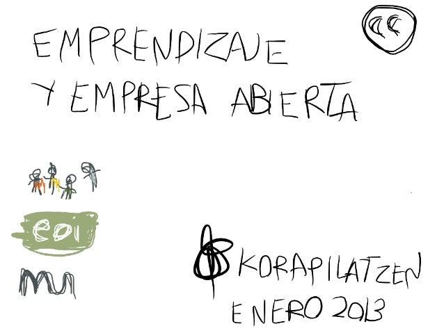 Empresa abierta korapilatzen 2013