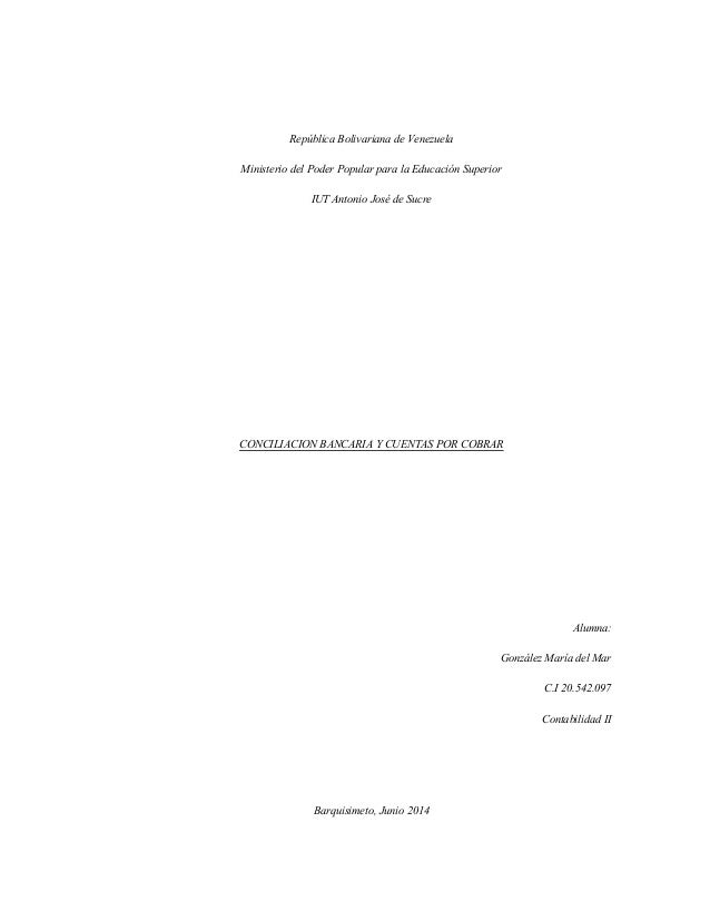 República Bolivariana de Venezuela Ministerio del Poder Popular para la Educación Superior IUT Antonio José de Sucre CONCI...
