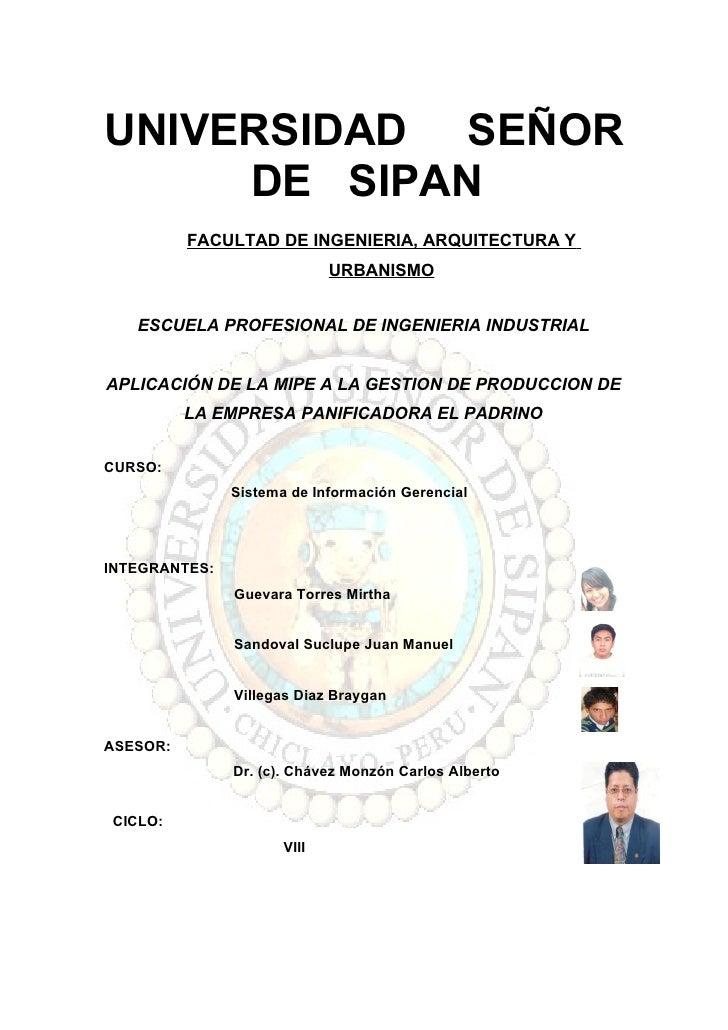 UNIVERSIDAD SEÑOR      DE SIPAN           FACULTAD DE INGENIERIA, ARQUITECTURA Y                              URBANISMO   ...