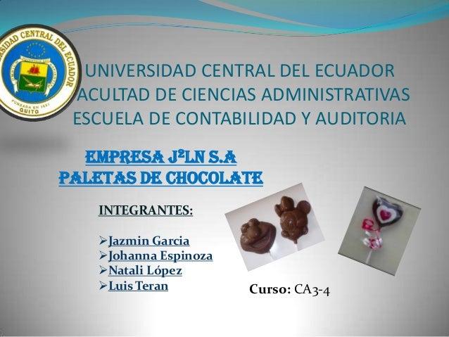 Empresa JJLN chocolates
