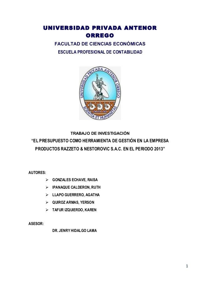 Empresa razzeto & nestorovic s.a.c   informe final