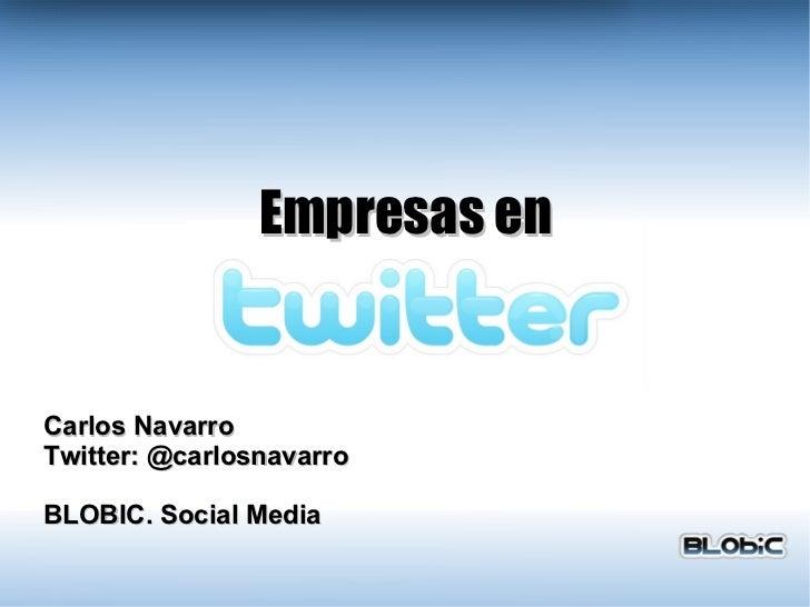 Empresas en Twitter