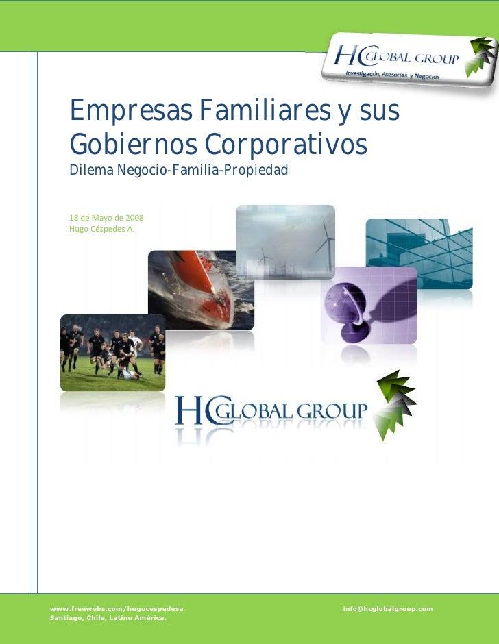 Empresas Familiares y sus Gobiernos Corporativos