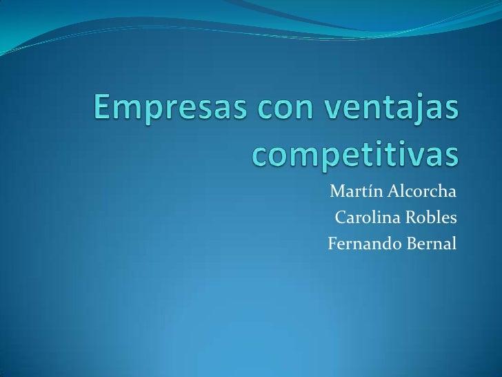 Empresas con ventajas competitivas