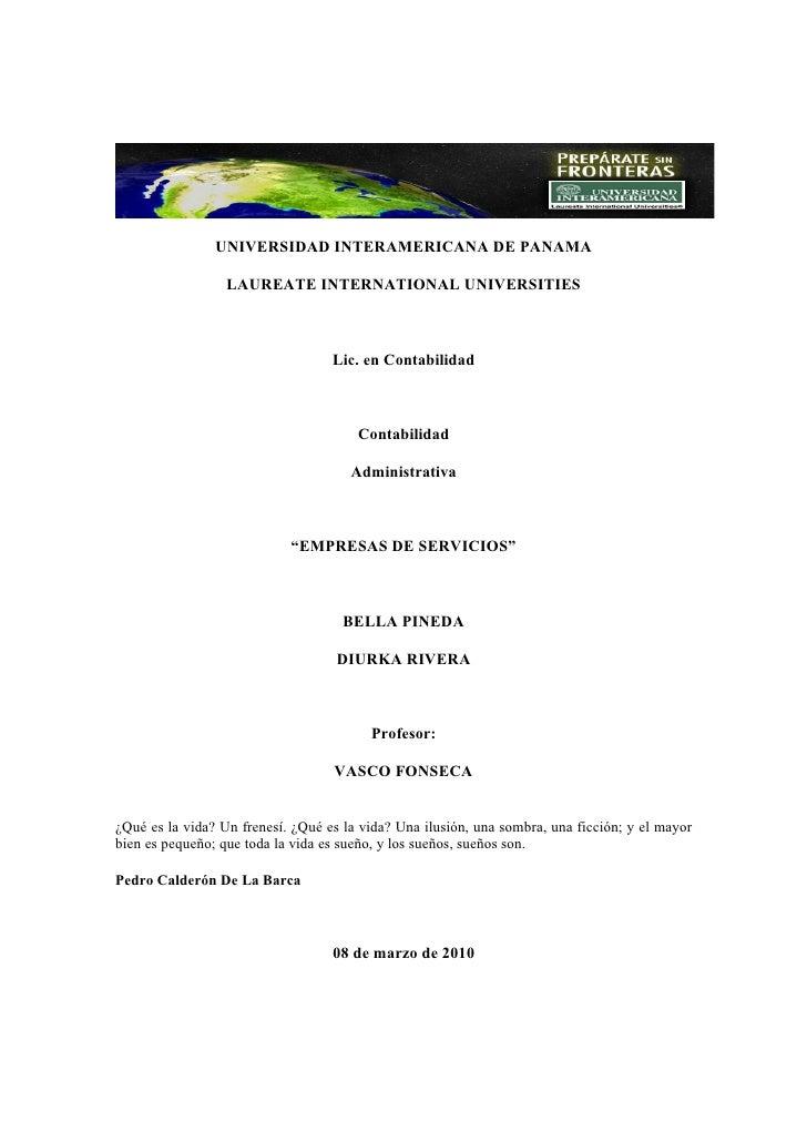 UNIVERSIDAD INTERAMERICANA DE PANAMA                    LAUREATE INTERNATIONAL UNIVERSITIES                               ...