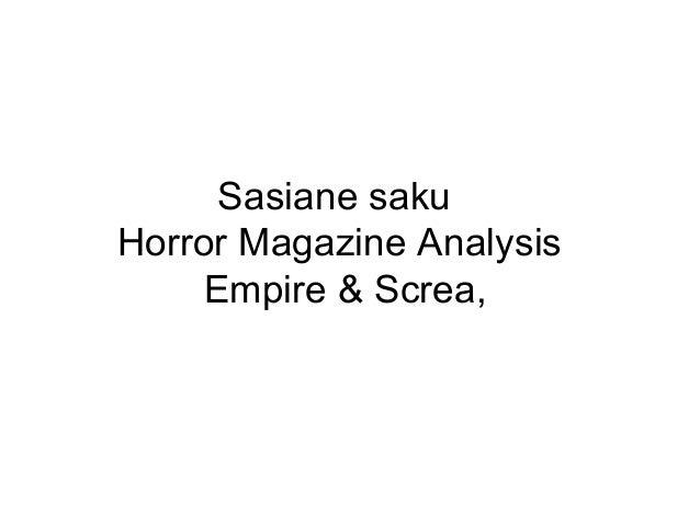 Empire And Scream Magazine Analysis Sasiane Saku