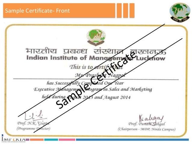 Executive Management Program In Sales Amp Marketing Iim