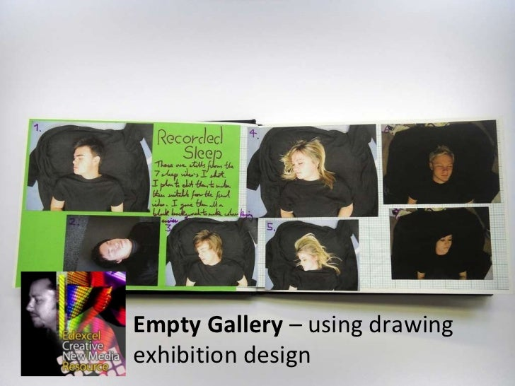 Empty Gallery  – using drawing exhibition design