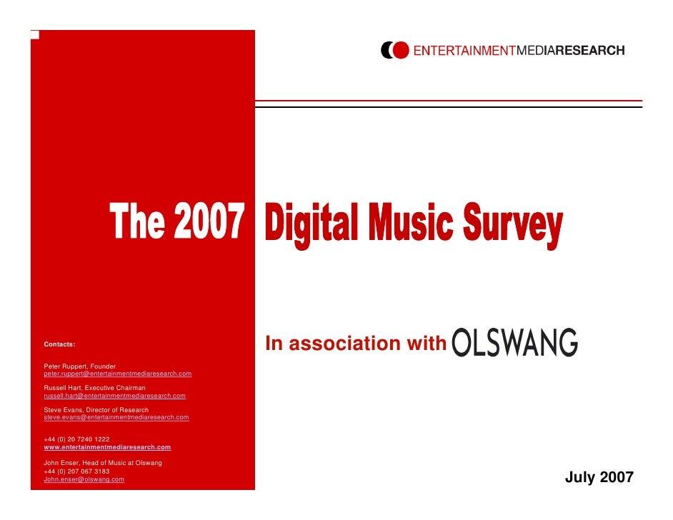 Emr Digital Music Survey 2007