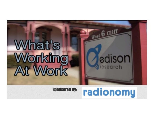 What's Working At Work: The Edison Research At-Work Listening Study