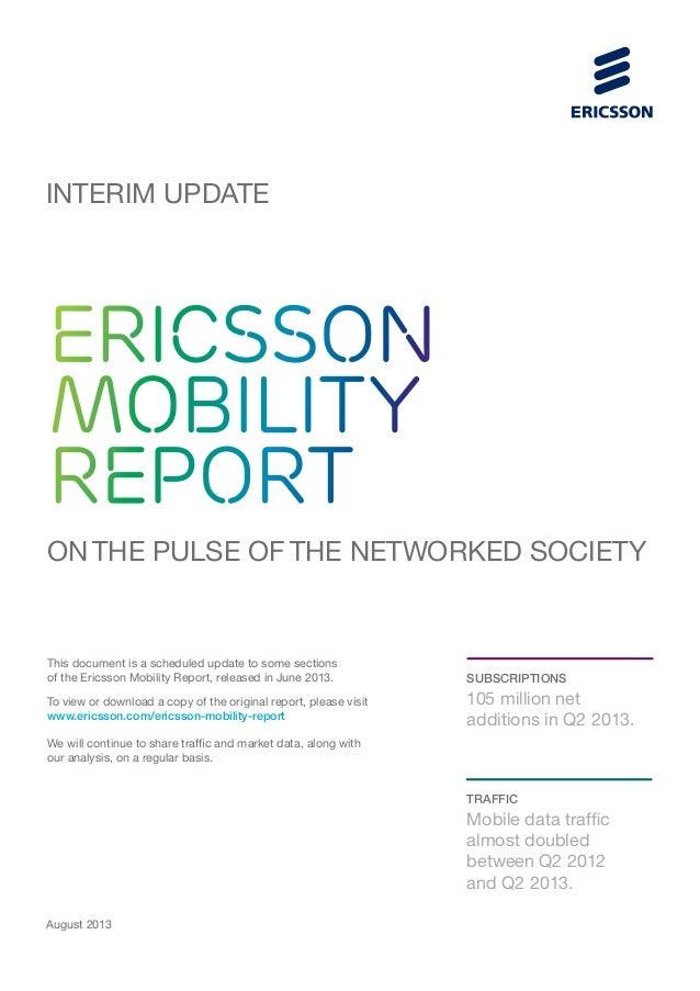 Ericsson Mobility Report Interim Update August 2013