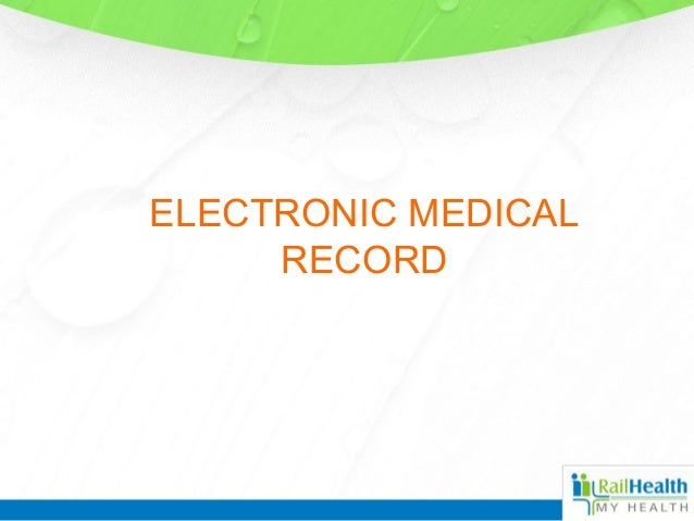 Electronic medical record for clinic