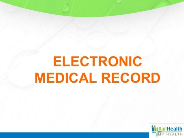Electronic medical record for patients