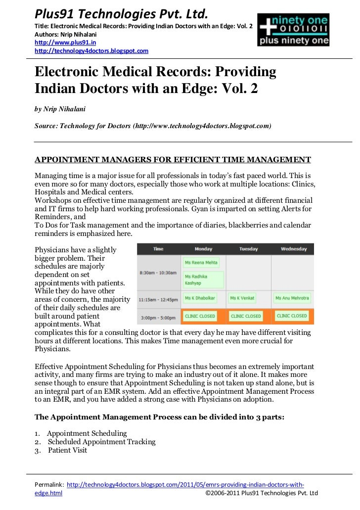 Plus91 Technologies Pvt. Ltd.Title: Electronic Medical Records: Providing Indian Doctors with an Edge: Vol. 2Authors: Nrip...