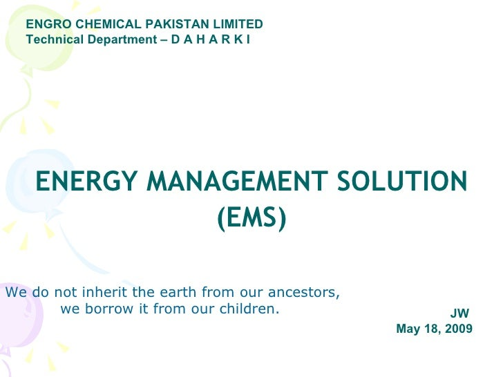 Avanceon's Energy Management Solutions at work at Engro Fertilizer