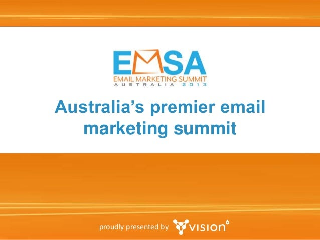 Australia's premier email marketing summit  proudly presented by