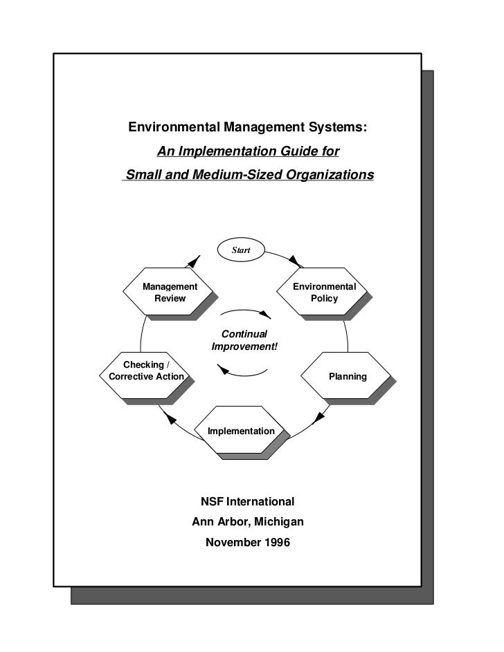 Environmental Management Systems:          An Implementation Guide for   Small and Medium-Sized Organizations             ...